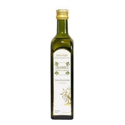 Aceite de oliva extra virgen primera prensada x 1/2 L.