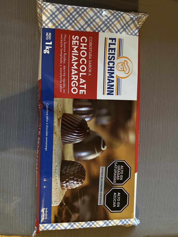 Cobertura sabor chocolate semi amargo x 1 kg