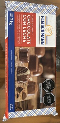 Cobertura sabor chocolate con leche x 1kg
