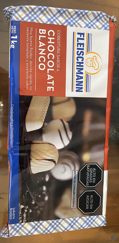 Cobertura de sabor chocolate blanco 1 kg