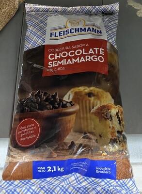 Cobertura chocolate en chips 2.10 kilo