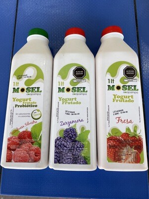 Yogurt  frutado  probiótico Mosel x litro con stevia