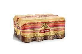 Cerveza Cusqueña dorada x 12 pack de 355ml.
