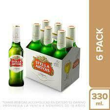 Cerveza Stella Artois x six pack de 330ml.