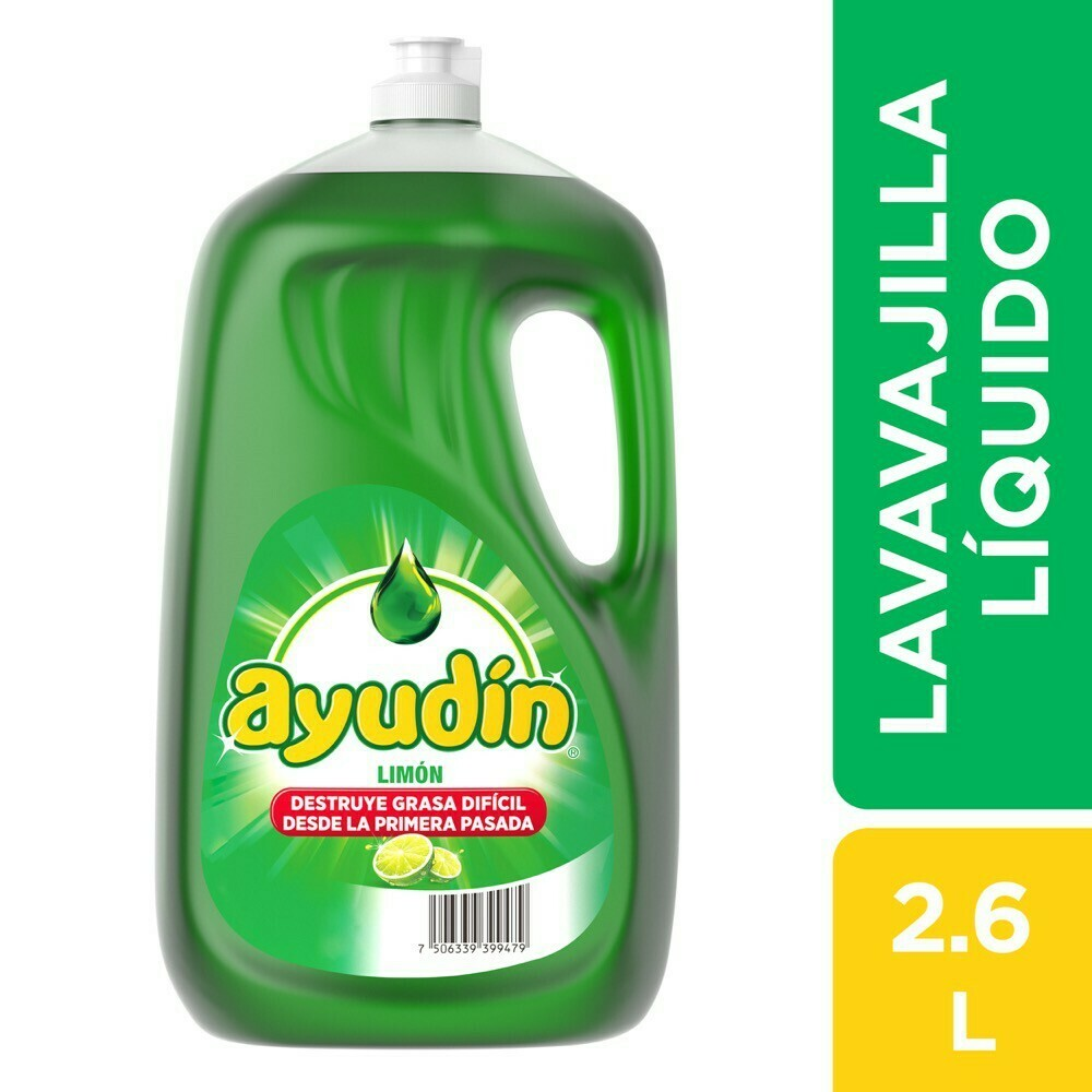 Lavavajilla líquido Ayudin  x 2.6 l.