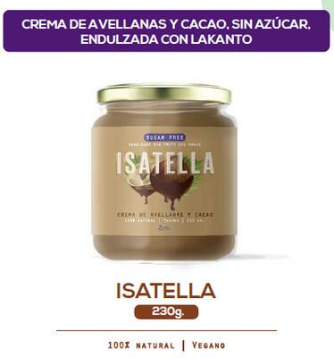Isatella - Crema de avellanas 230 gr