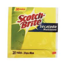 PAÑO SECATODO SCOTCH BRITE X 20 UN