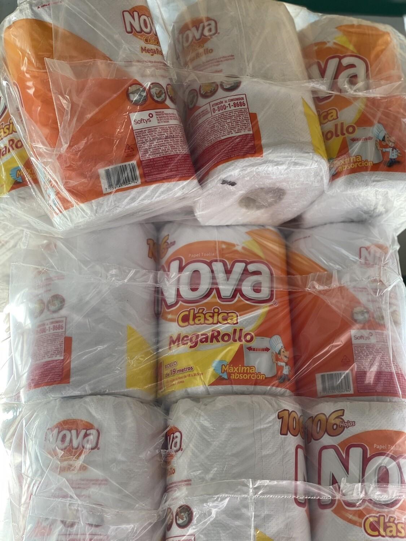 Papel toalla x 12 unidades mega rollo nova