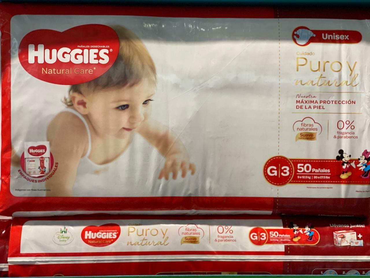 PAÑALES HUGGIES G3 X 50