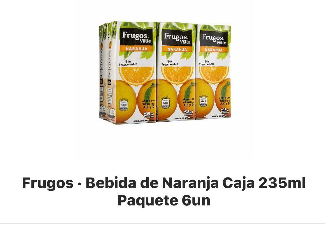 Frugos Naranja de 235 ml x 6