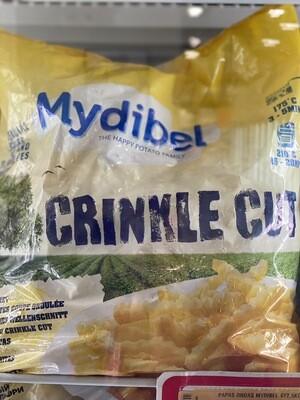 Papas peladas x bolsa de 2 1/2 kilos Midybel Crinkle cut