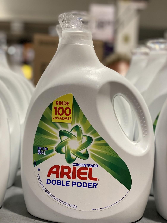 Detergente Ariel doble poder 4 litros