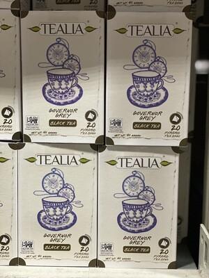 Tealia Te governor grey black tea 20 unidades .Te negro de Ceilan con sabor Bergamota.