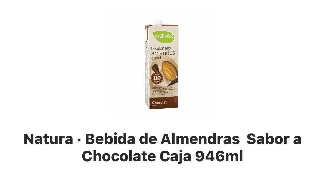 Bebida de almendras sabor chocolate