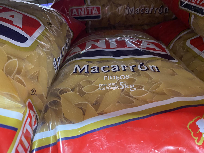 Fideos Macarron Anita x 5 kilos