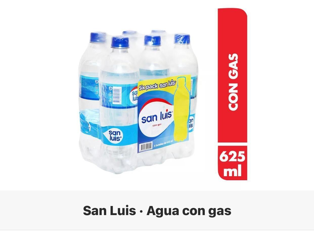 Agua San Luis con gas six pack x 500 ml