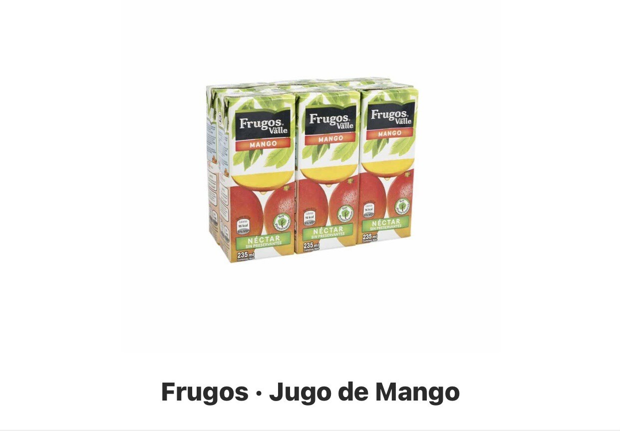 Jugos de mango six pack