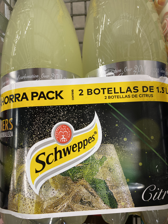 Pack de 2 botellas schweppes citrus 1.5 l c/ u