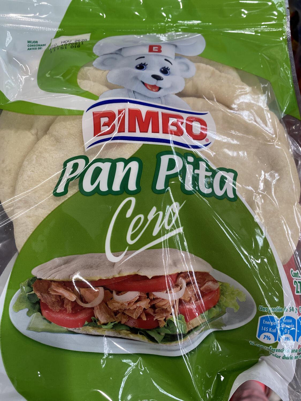 Pan pita cero bimbo x 10 unidades