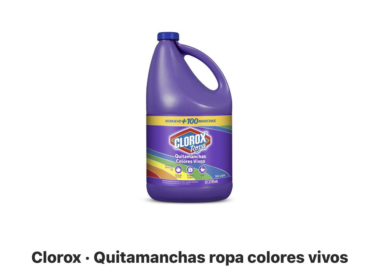 Clorox quitamanchas color ropa colores 3.785