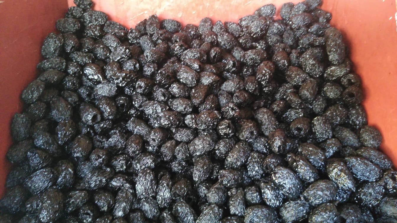 Aceitunas secas  sin pepa x 1/2 kilo