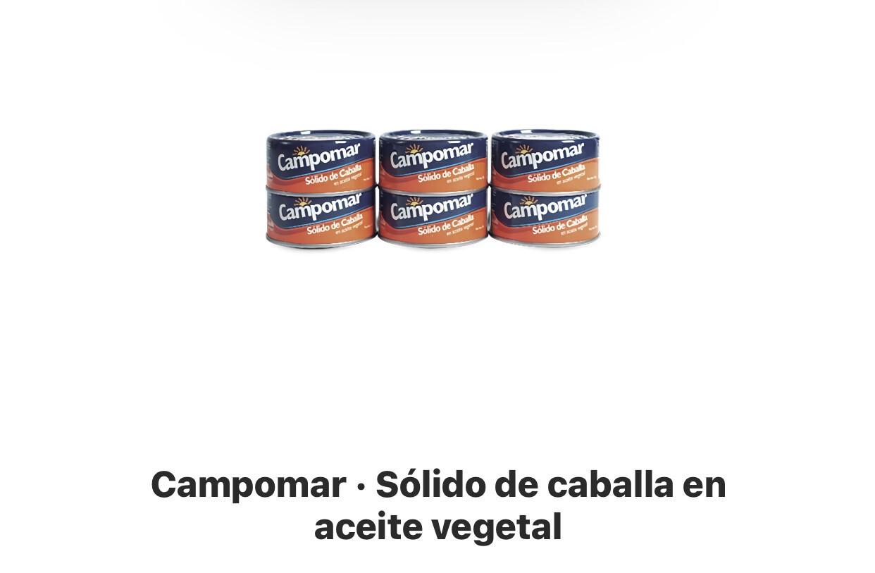 Campomar x 6 unidades caballa