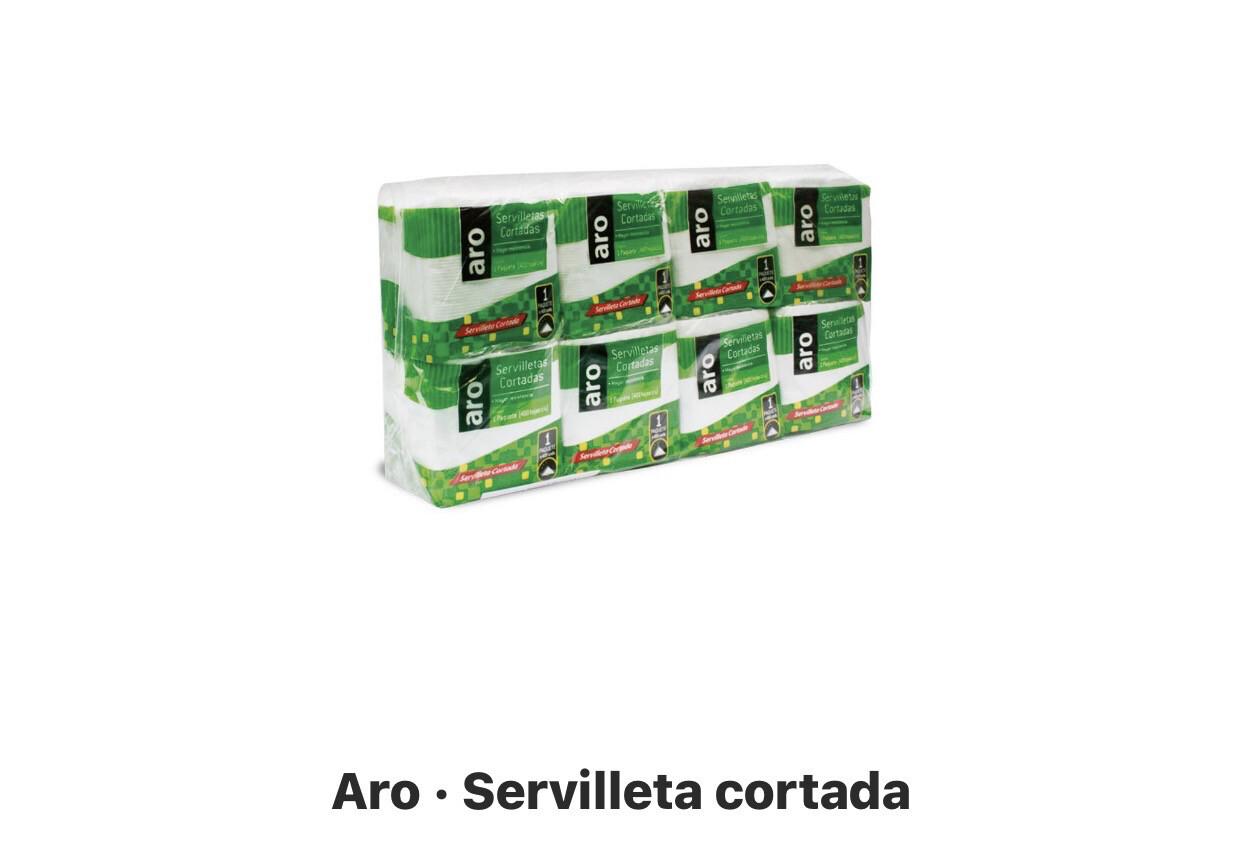 Servilletas cortadas x 8 paquetes c/u x 400 hojas