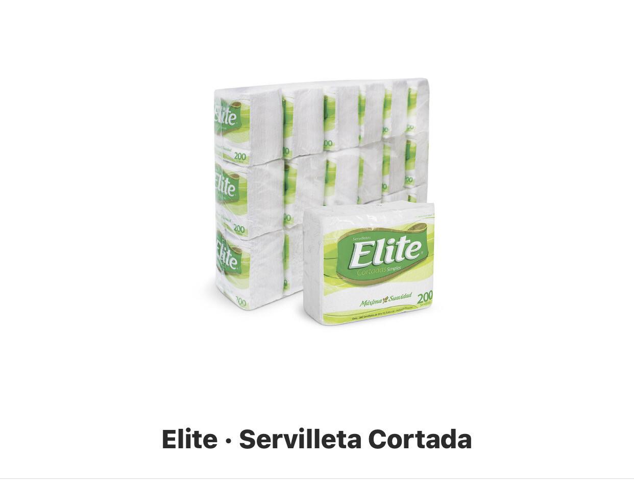 Servilletas Elite cortadas x 18 paquetes