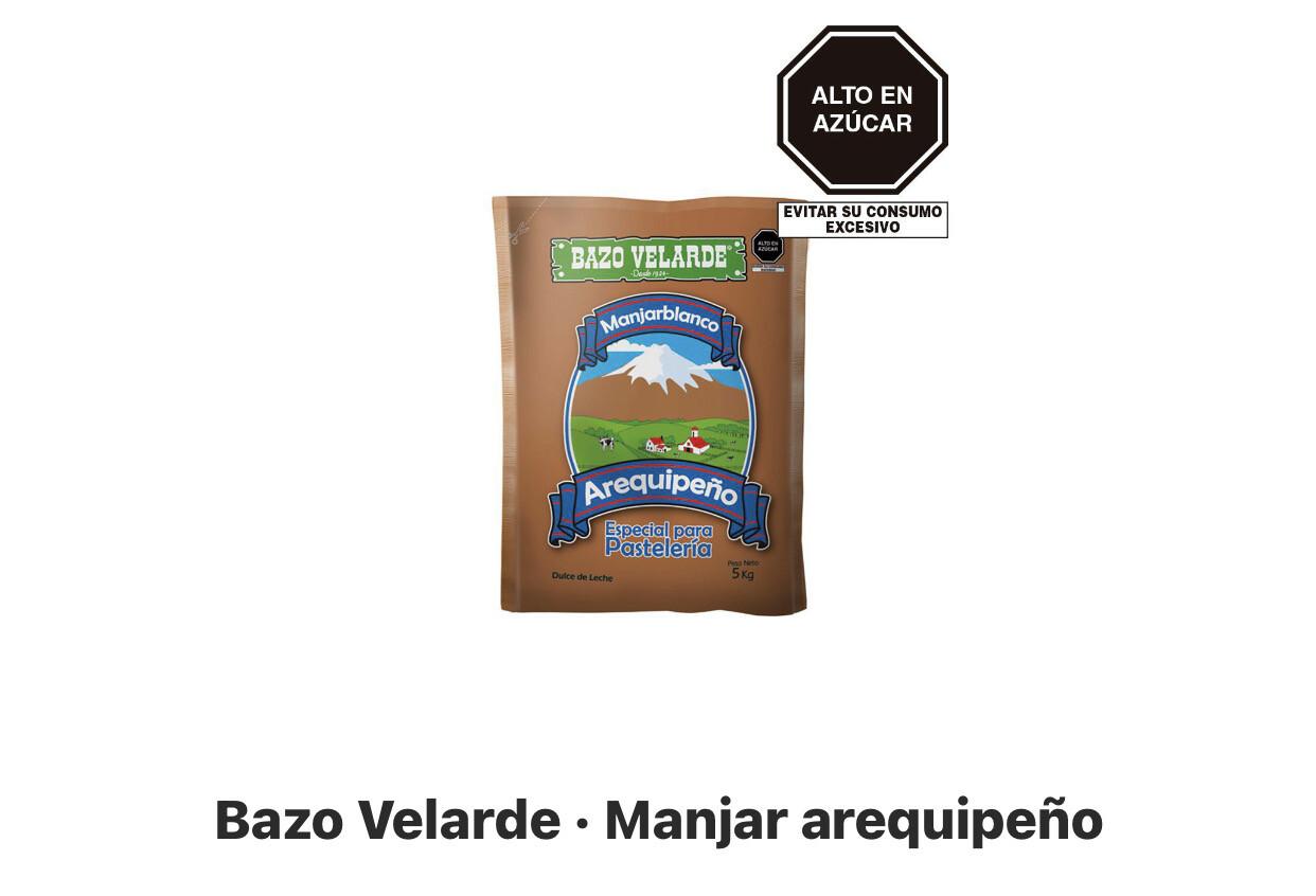 Bazo Velarde bolsa x 5 kilos manjar Arequipeño
