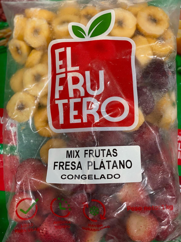 Fruta congela mix fresas , plátano