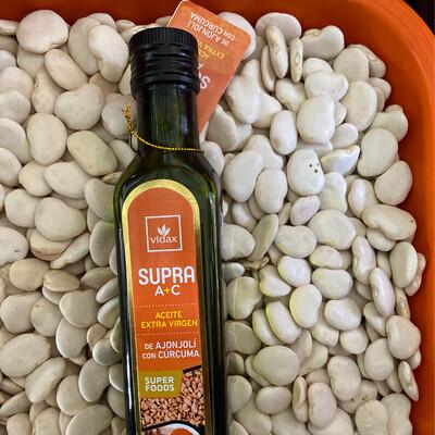 Aceite de ajonjolí y cúrcuma