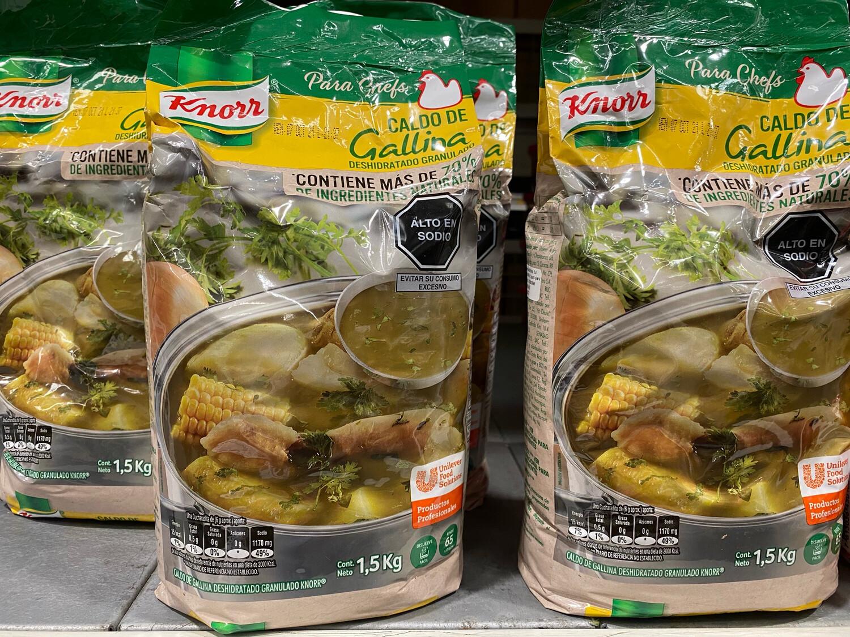 Caldo de gallina deshidratado knorr x 1.5