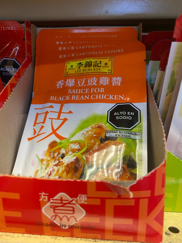 Salsa de pollo y frejol negro lkk