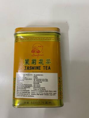 Te jasmine suelto en hojas seleccionadas lata x 50 gramos