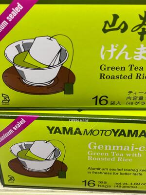 Te Yamamotoyama verde  arroz tostado x 16 sobres