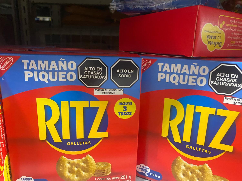 Ritz galletas tamaño piqueo x caja