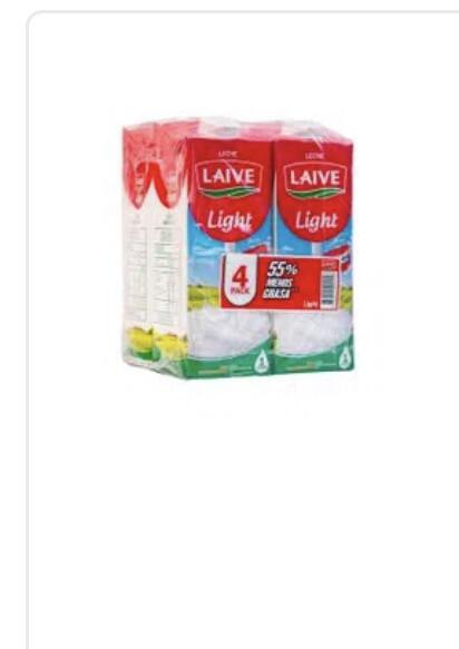 Leche Laive light x 4 unidades litro C/u