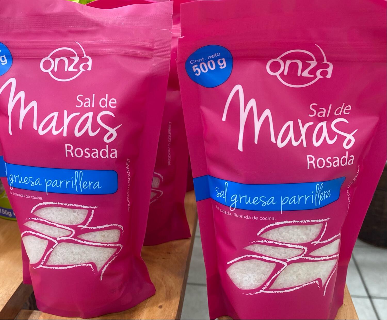 Sal de maras rosada gruesa parrillera x 500 gramos