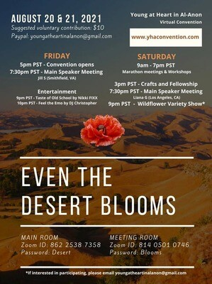 Registration YHA Convention  EVEN THE DESERT BLOOMS VIRTUAL CONVENTION