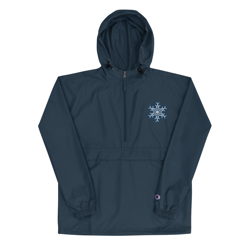 """ICEcoldG00N """"Snowflake"""" Embroidered Champion Packable Jacket"""