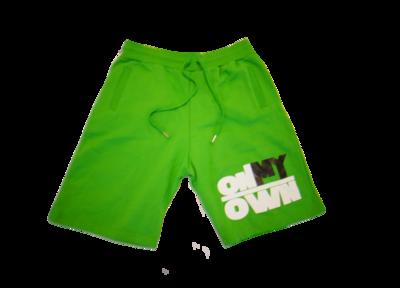 Green OnMyOwn Shorts