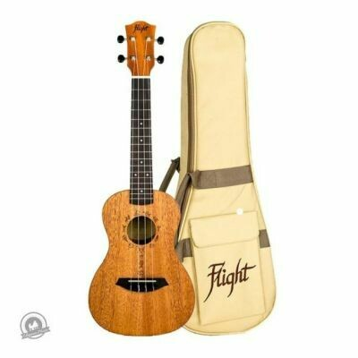 Flight: DUC373 Concert Ukulele - African Mahogany (With Bag)