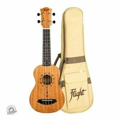 Flight: DUS371 Soprano Ukulele - African Mahogany (With Bag)