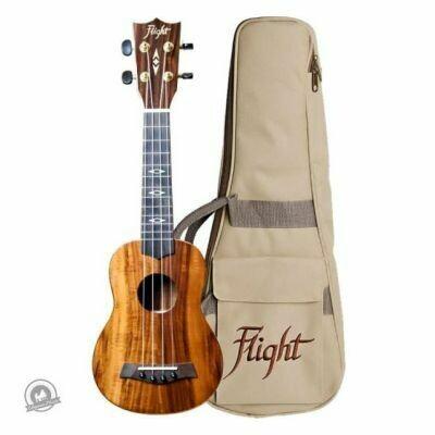 Flight: DUS445 Soprano Koa Ukulele (With Bag)