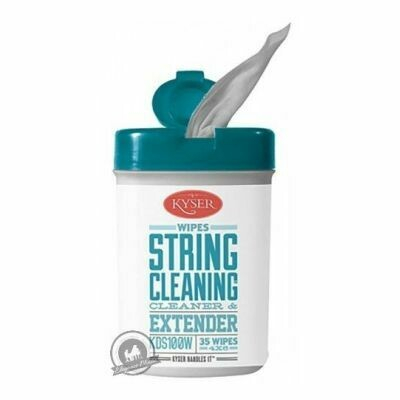 Kyser Care String Cleaner and Lubricant Wipes x35