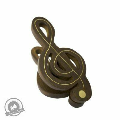 Wooden Music Clip - Treble Clef - Small