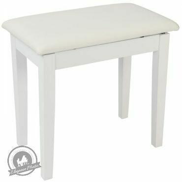 Kinsman Piano Bench with Storage ~ Satin White