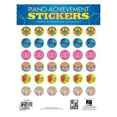 Piano Achievement Stickers - Pack of 96 Stickers