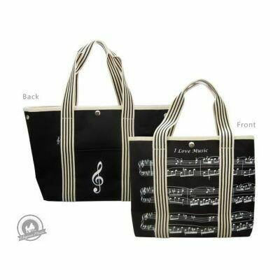 Canvas Tote Bag -Treble Clef/Sheet Music Design