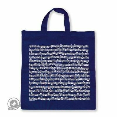 Tote bag Sheet music navy